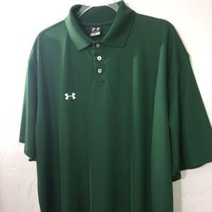 Under Armour Hunter Green Polo Excellent Condition
